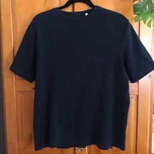 Vintage Oversized Ribbed Cotton T-shirt